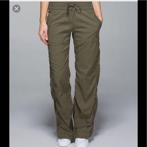 Lululemon Unlined Dance Studio Pants Olive Green